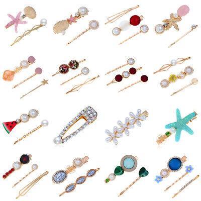Elegant Women Beach Acrylic Hair Clips Stick Barrette Hairpin Hair Accessories
