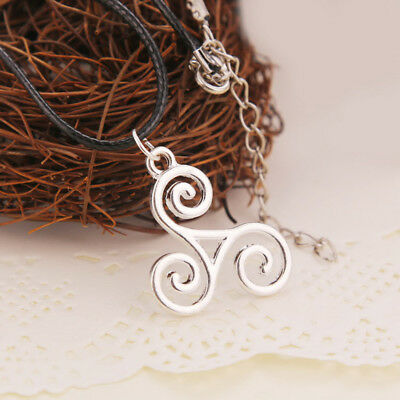 1pcs Silver Triskele Triskelion Argent Teen Wolf Pendant Necklace Jewellery Gift
