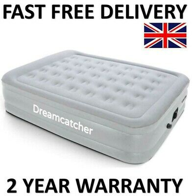 Double Air Bed Blow Up Inflatable Mattress With Built In Electric Pump Raised