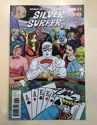 Silver Surfer - Comic #007 Signed By Dan Slot