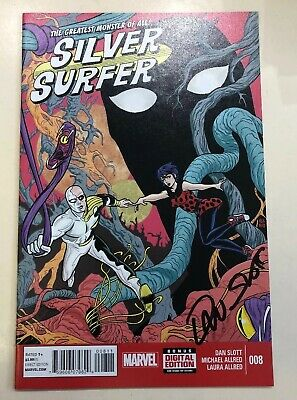 Silver Surfer - Comic #008 Signed By Dan Slot