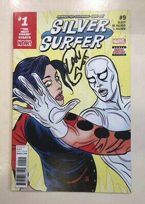 Silver Surfer - Comic #009 Signed By Dan Slot