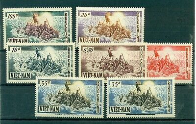 VIETNAM Sud 1955 MNH Set 6 w. + 1956 surch.35 $