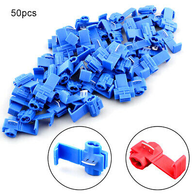50X/Set Lock Wire Electrical Cable Connector Quick Splice Terminals Crimp Car