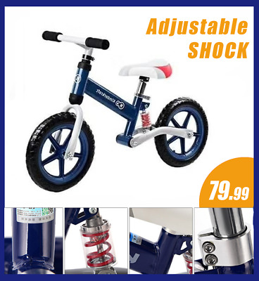 【Shock absorb】Balance Bike Kids Toddler Girls Boys Training Push Bicycle 12""