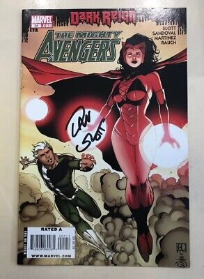 The Mighty Avengers - Comic #024 Signed By Dan Slot