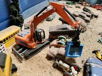 Junk yard salvage scrap metal material handler loader grappler 1/64  excavator