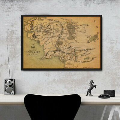 Framed Game Of Thrones the Know Map Wall Art Poster 47 36 24 16 Inches