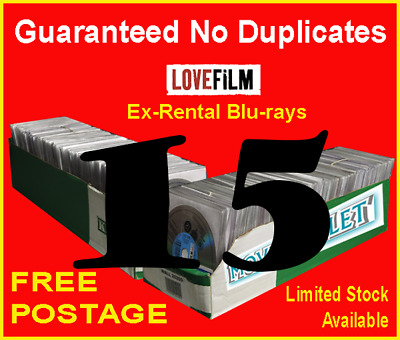 1​5 x LOVEFILM Ex-Rental Blu-Ray Movies, OVERSTOCK, JOBLOT, WHOLESALE, CLEARANCE