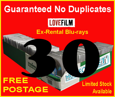 30 x LOVEFILM Ex-Rental Blu-Ray Movies, OVERSTOCK, JOBLOT, WHOLESALE, CLEARANCE