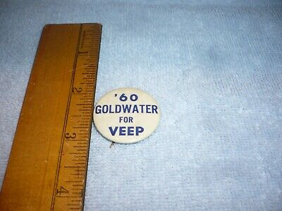 1960 Rare Barry Goldwater For Veep Button