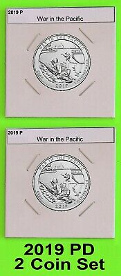 2019 PD Set (2 coins) War in the Pacific America the Beautiful (ATB)
