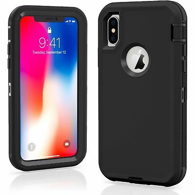 case for iPhone xs max 7/8 PLUS XR Defender Case Impact Hard Rugged without Clip