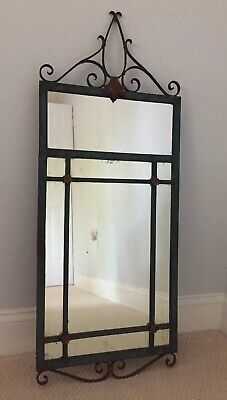 FABULOUS Antique FRENCH BRONZE Mirror With Great Patina - Nice 4 Entranceway