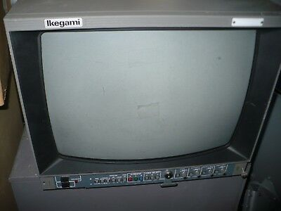 "USED 20"" Color Video Broadcast CRT Monitor - Ikegami TM20-17RA with power cord."
