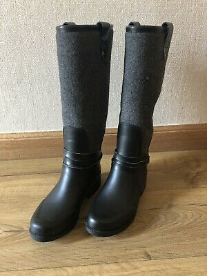 7744ef14701 NEW UGG BLACK RAIN BOOTS WITH LIBERTY FLORAL PRINT SIZE 4.5 UK ...