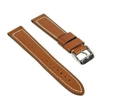 Mens Genuine Leather Watch Strap Band VIP Grain 18mm 20mm 22mm 24mm