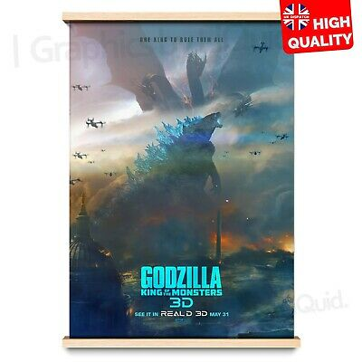 Godzilla King of the Monsters Film Print Poster Movie 2019 | A4 A3 A2 A1 |