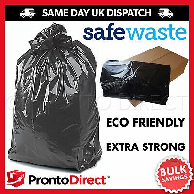 Extra Strong Heavy Duty Black Bin Liners Rubbish Bags Waste Refuse Sacks