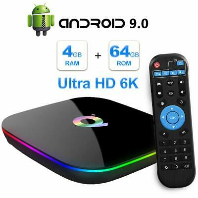 SMART TV BOX Q Plus ANDROID PIE 9.0 4GB RAM 64GB 6K IPTV WIFI DAZN