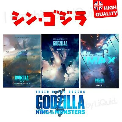 Godzilla King of the Monsters Posters Movie Film Print 2019 | A4 A3 A2 A1 |
