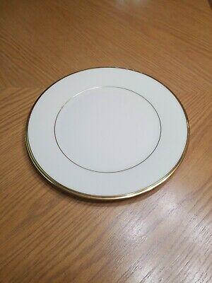 "Lenox ETERNAL 10 5/8 "" Gold Rimmed Dinner Plate GUC Made in USA"