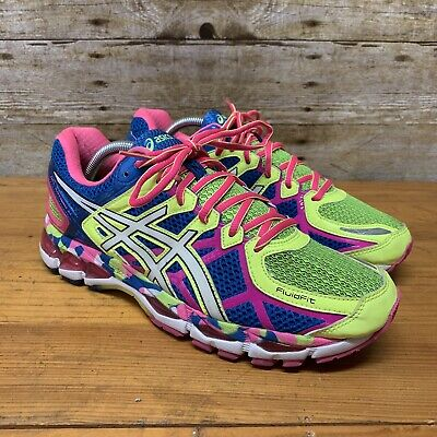 Athletic Shoes Lower Price with Euc Womens Asics Gel Kayano 21 Running Shoes 8.5 Us Blue Pink Yellow T4h7n Neon