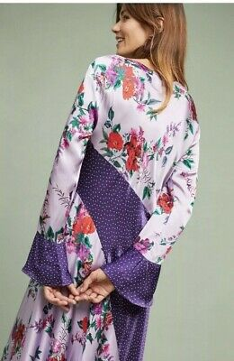 a3b6dd1a9893 NWT Anthropologie sz Small Carly Patchwork Dress by Ghost London $208 floral