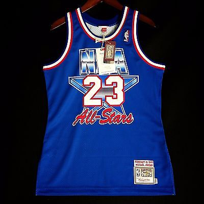 separation shoes 1be7a c50ed 100% Original Michael Jordan Mitchell Ness 1993 All Star Maillot Taille