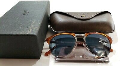 c1e4782de2 NEW PERSOL SUNGLASSES PO 3019S 96 56 TERRA DI SIENA BLUE 55mm ...