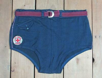 727012f2e6 Vintage 1940s Swimaway Wool Swimsuit Bathing Suit Life Guard Patch Board  Shorts