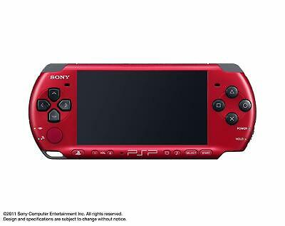 Playstation Portable PSP Sony Red Black PSPJ-30026 Only Body Game Console Japan