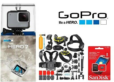 GoPro HERO7 White Waterproof Action Camera Touch Screen 1080p HD 10.0MP Sports