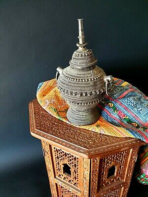 Old Yemeni Silver Filigreed Lidded Container / Urn a.) …beautiful collection &.