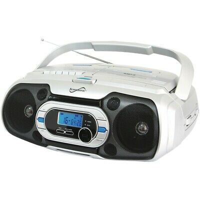 Supersonic Sc-729Bt Bluetooth Compatible Portable Audio System In Silver