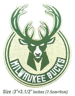 Milwaukee Bucks New Basketball sport Embroidery Patch on iron, sewing on Clothes