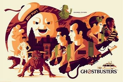 """Ghostbusters Mondo Poster SDCC 2018 Tom Whalen 24""""x36"""""""