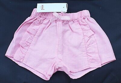 New SEED HERITAGE baby girls shorts Size 00 3-6 month PINK RRP$29.95 *50% OFF*
