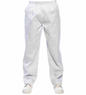 1ae6acced7a5 UK Plain Chef Trousers Uniform Unisex Work Kitchen Chef Pants Elasticated