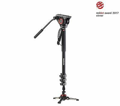Manfrotto Xpro Monopod With Fluid Video Head - Black. Huge Saving New