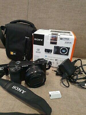 SONY Alpha A6000 24.3 MP Digital Camera - Power Zoom Kit - 16-50mm (Excellent)