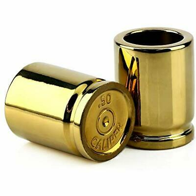50 Shot Glasses Caliber - Set Of 2 Shaped Like Bullet Casings Step Up To The Up,