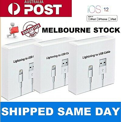 Lightning Data Charger Cable Cord for Genuine Apple iPhone X 8 7 5 S Plus 6 iPad