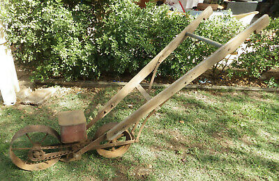 Antique Farm Hand Drawn S2H Seed Planter Agriculture Garden ornament