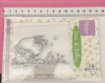Marianne Design ~ Clear Stamps ~ Don & Daisy ~ Girl Laying Down Reading A Book