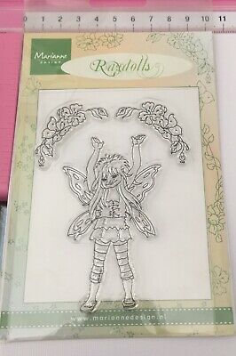 Marianne Design ~ Clear Stamps ~ Ragdolls ~ Fairy With Hands Raised Up Butterfly