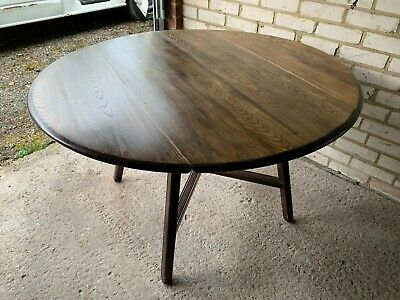 Ercol Elm And Beech Old Colonial 377 Drop Leaf Kitchen / Dining Table