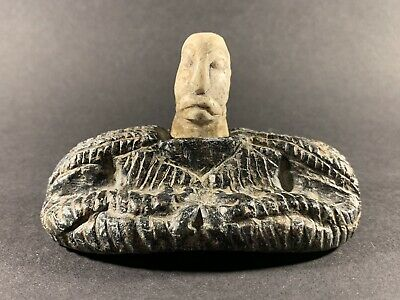 Very Beautiful - Scarce Circa 200Bc-200Ad Ancient Bactrian Chlorite Stone Diety