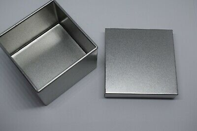 100 pcs  Square/Rectangle Tin Sundries Canister Box  sublimation blanks engraved