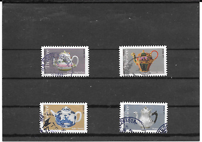 France 2018. Les Theieres. Lot de 4 Stamps Self-Adhesive Postmarks Round
